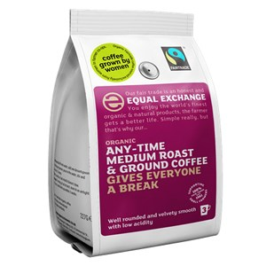 Equal Exchange Organic Fairtrade Any-Time Medium Roast & Ground Coffee