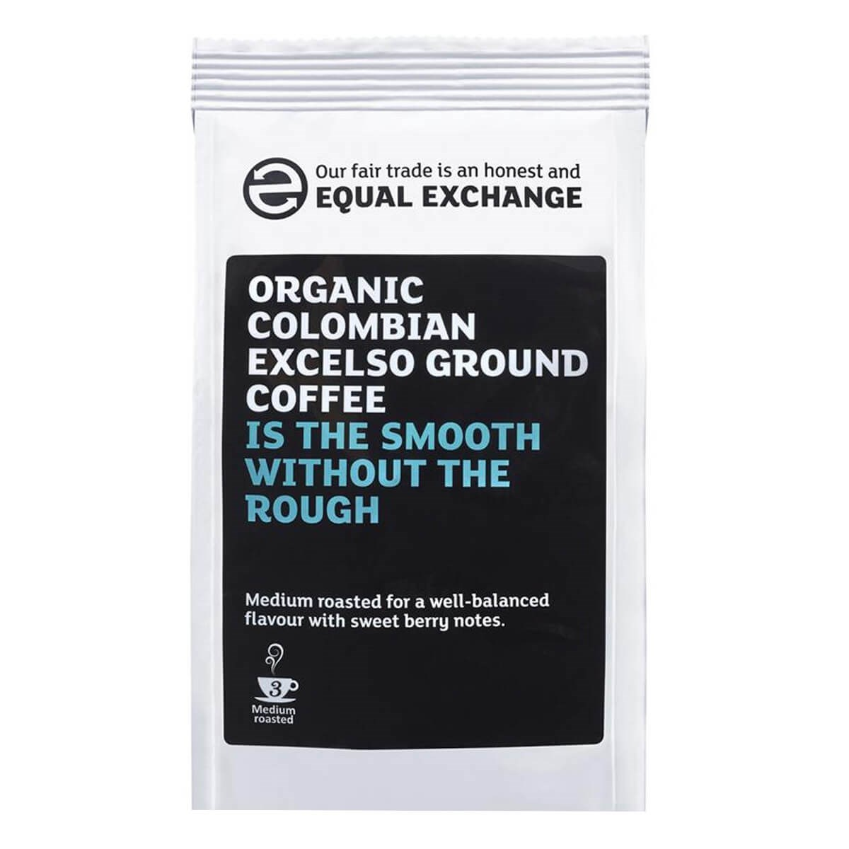 Equal Exchange Organic Fairtrade Colombian Excelso Ground Coffee
