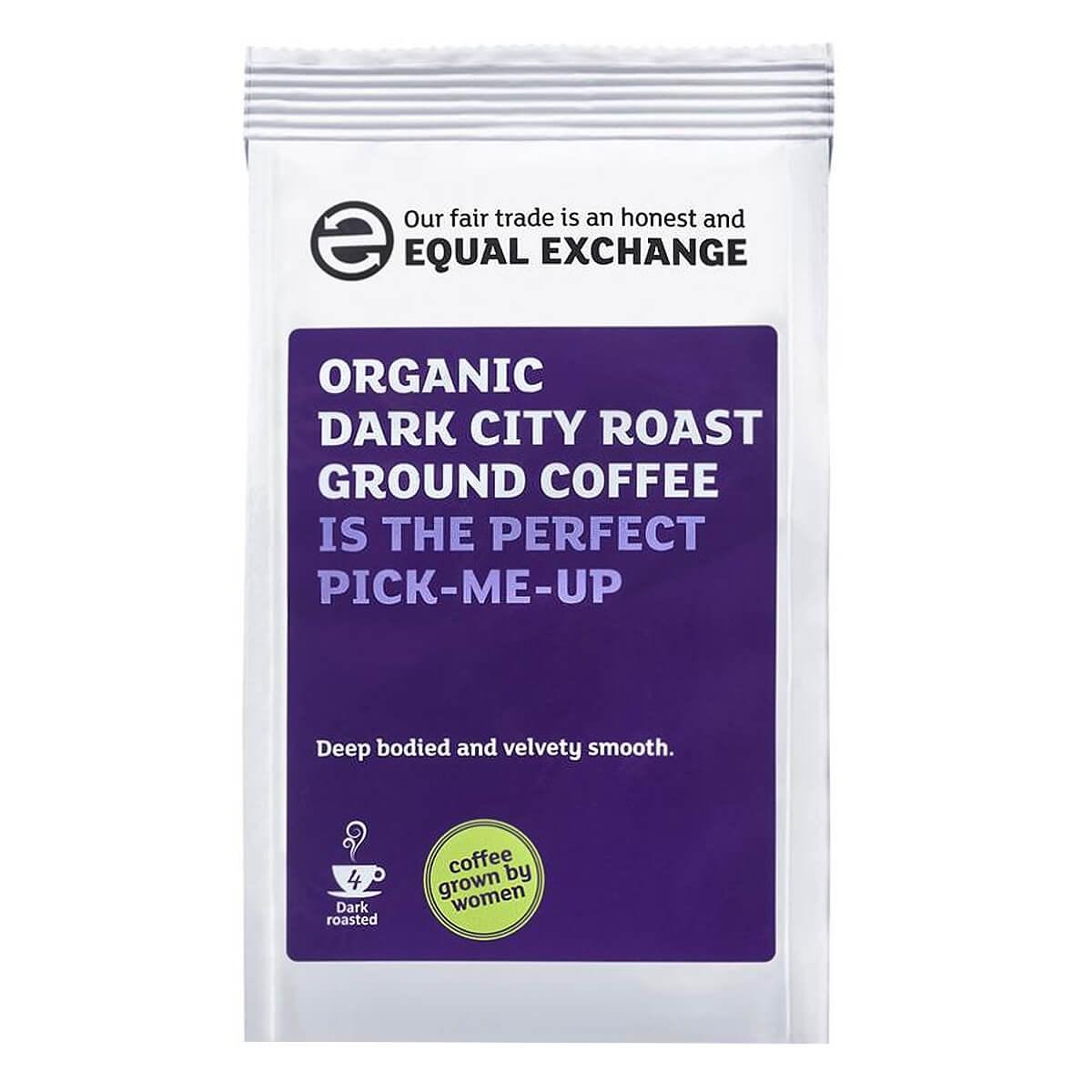 Equal Exchange Organic Fairtrade Dark City Roast & Ground Coffee