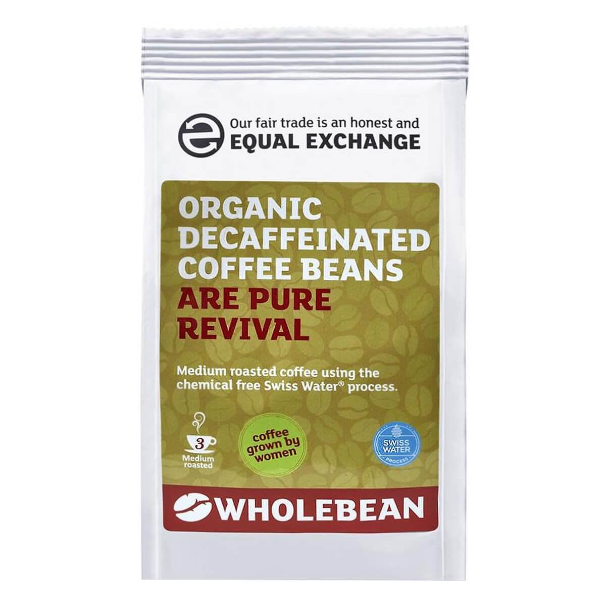 Equal Exchange Organic Fairtrade Decaffeinated Coffee Beans - Swiss Water