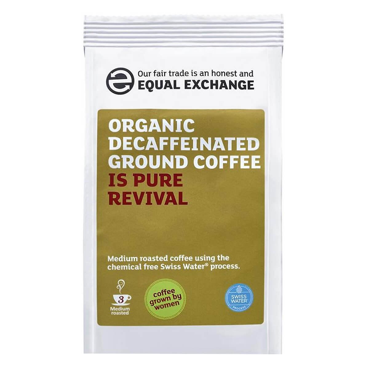 Equal Exchange Organic Fairtrade Decaffeinated Roast & Ground Coffee