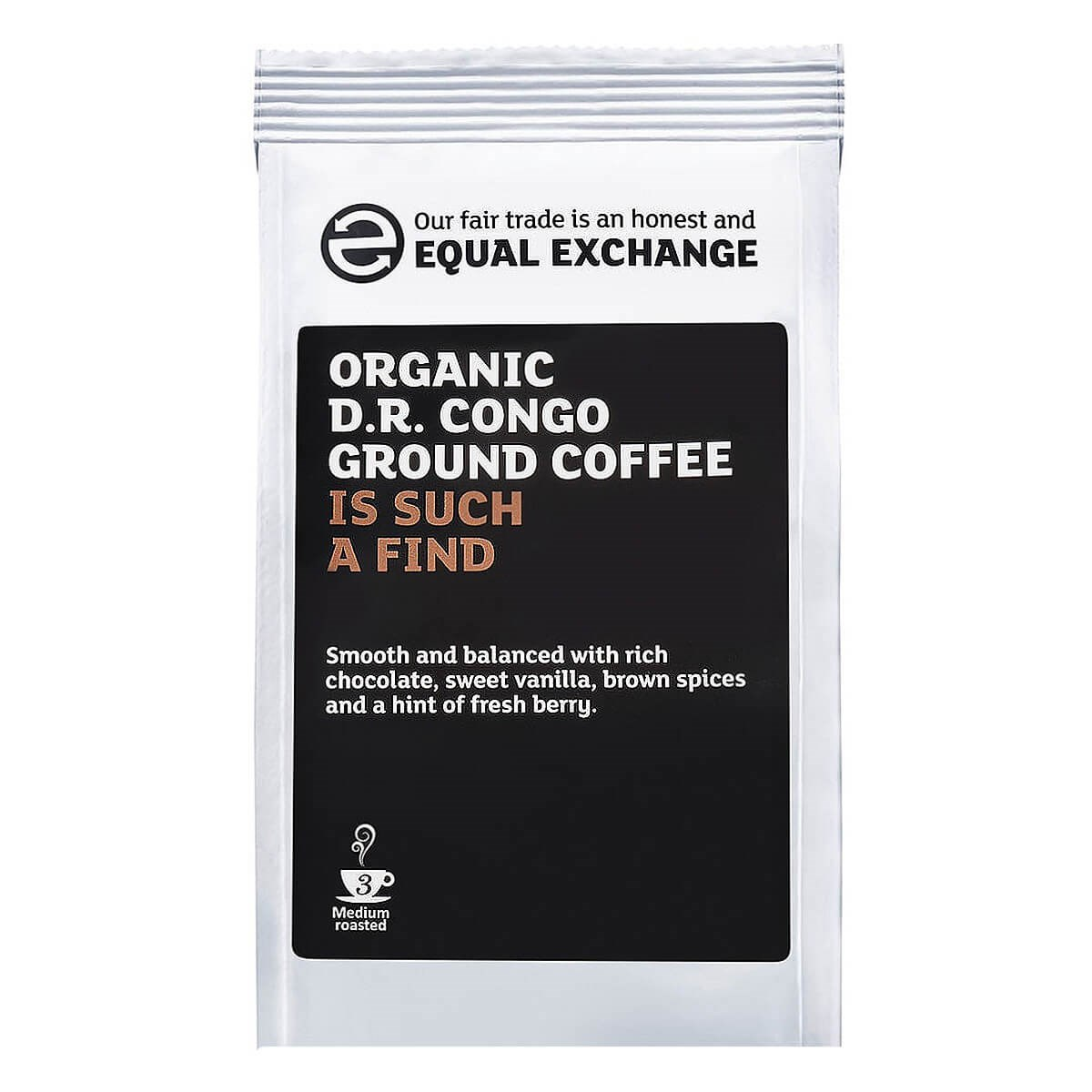 Equal Exchange Organic Fairtrade DR Congo Roast & Ground Coffee