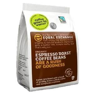 Equal Exchange Organic Fairtrade Espresso Coffee Beans 1000g