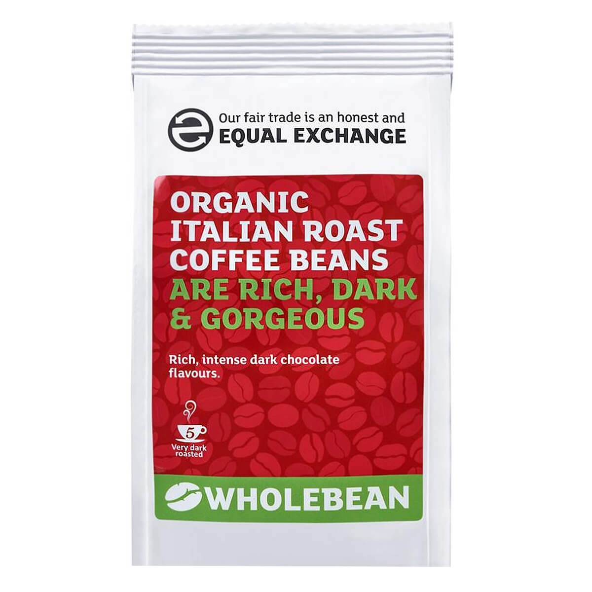 Equal Exchange Organic Fairtrade Italian Roast Coffee Beans