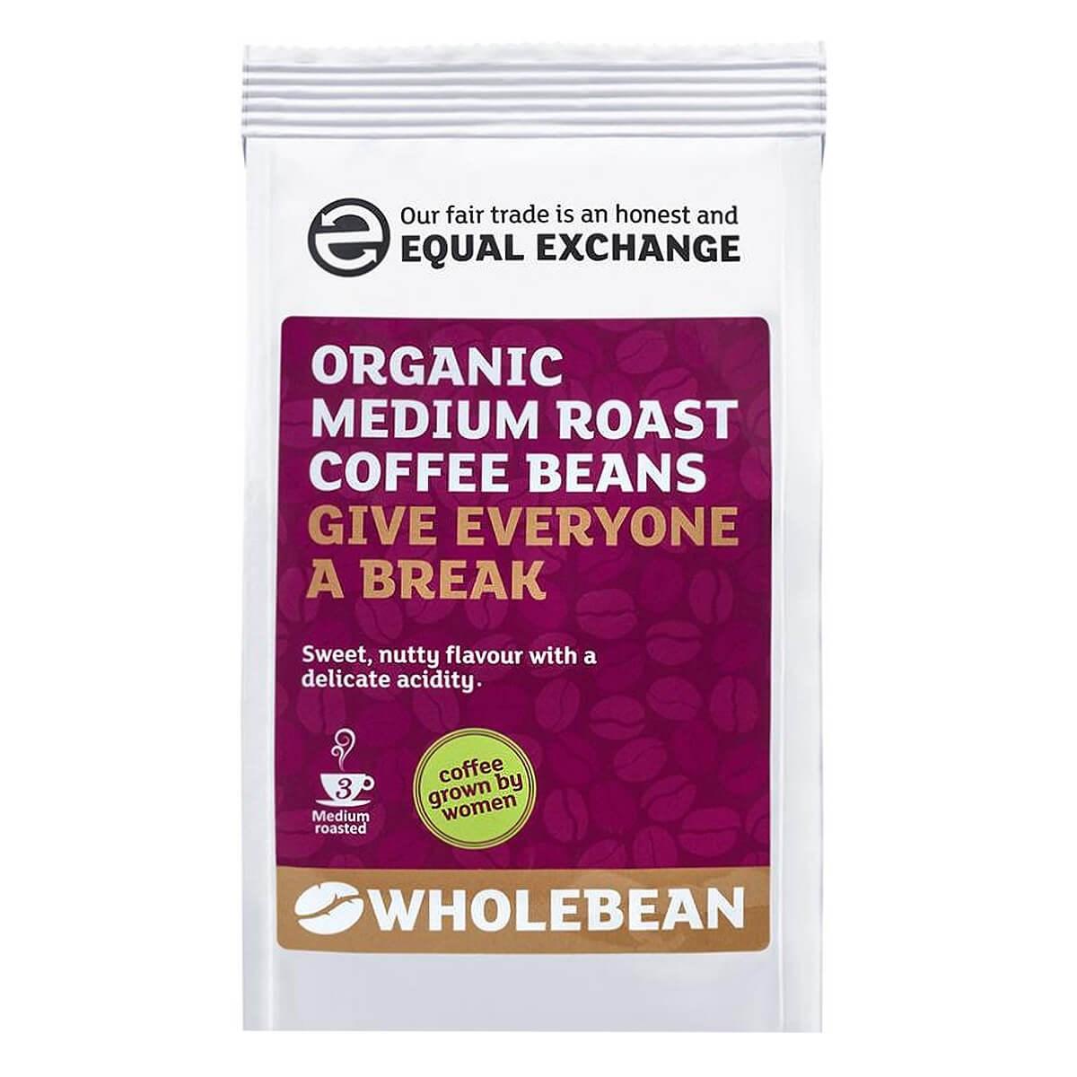 Equal Exchange Organic Fairtrade Medium Roast Coffee Beans