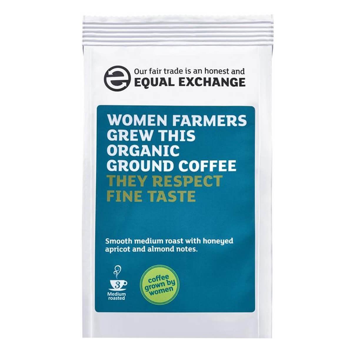 Equal Exchange Organic Fairtrade Women Grown Ground Coffee
