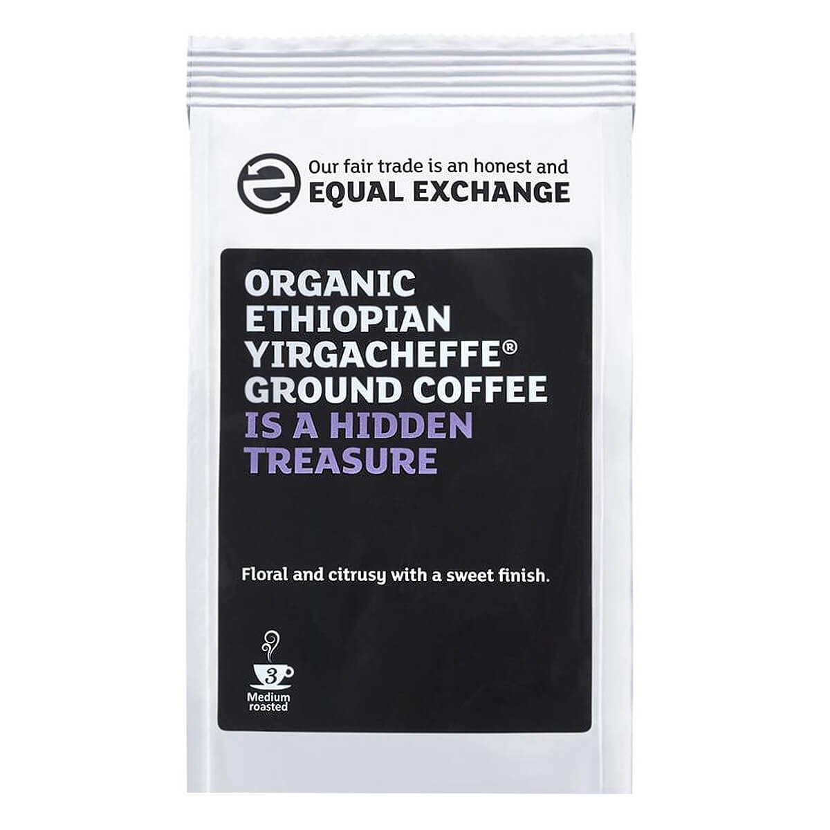 Equal Exchange Organic Fairtrade Yirgacheffe Roast & Ground Coffee