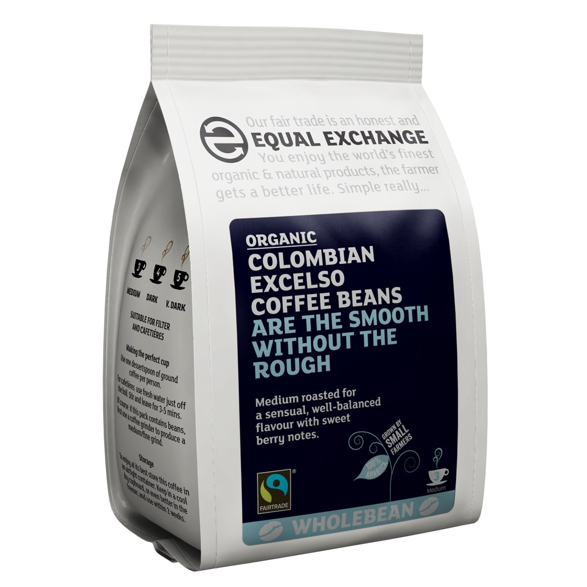 Equal Exchange Organic Faitrade Columbian Excelso Coffee Beans