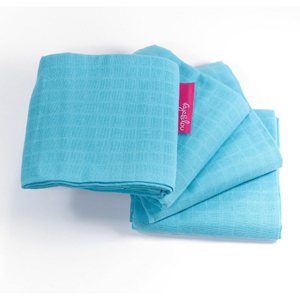 Faye and Lou Muslin Cloths Turquoise - 4 Pack