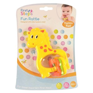 First Steps Animal Fun Rattle Teether