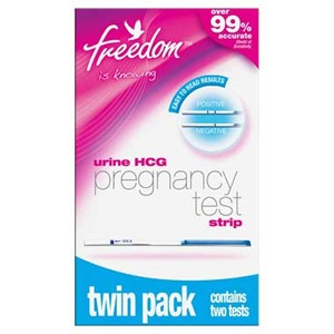 Freedom Urine HCG Home Pregnancy Test Strip - Twin Pack