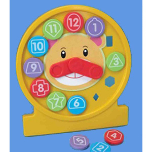Image of Beautiful Beginnings Teach Time Puzzle Clock - Assorted Colours
