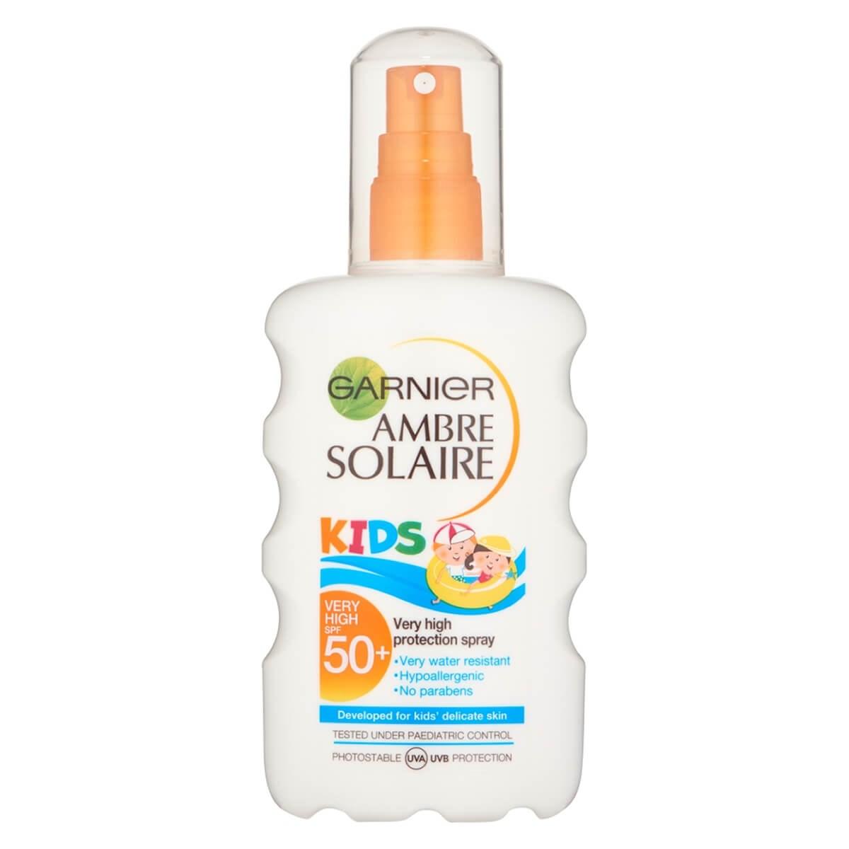 Garnier Ambre Solaire Kids Sun Cream Spray SPF50+