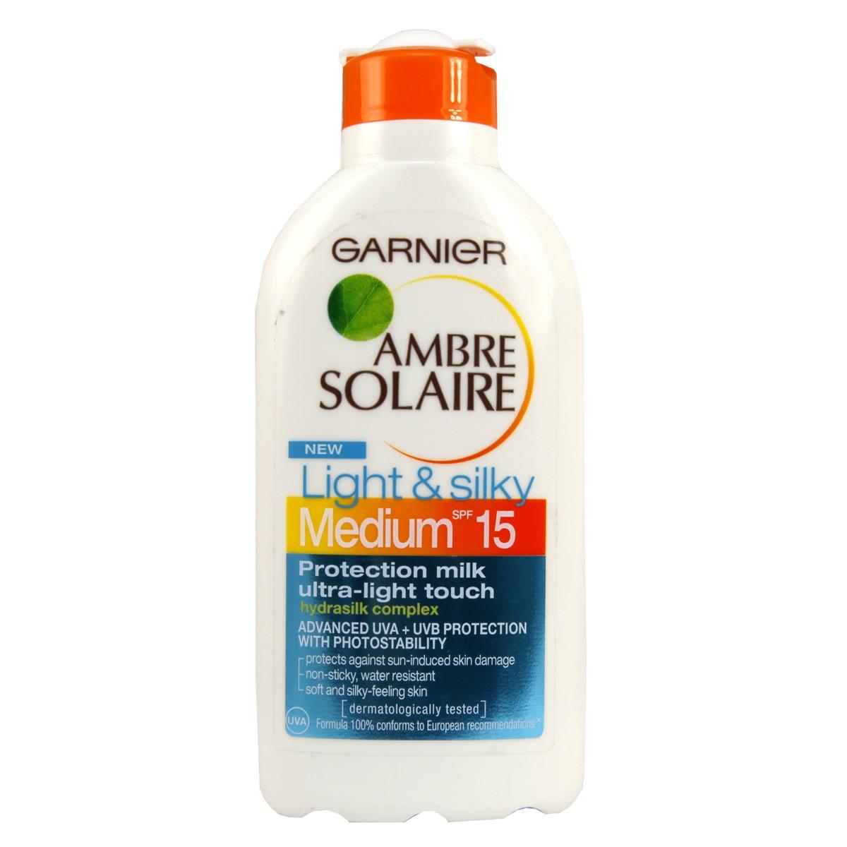 Garnier Ambre Solaire Light & Silky Milk SPF 15