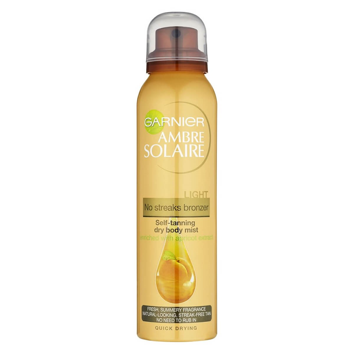 Garnier Ambre Solaire No-Streaks Bronzer Dry Body Mist (Light)