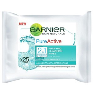 Garnier Pure Active 2in1 Purifying Cleansing Wipes