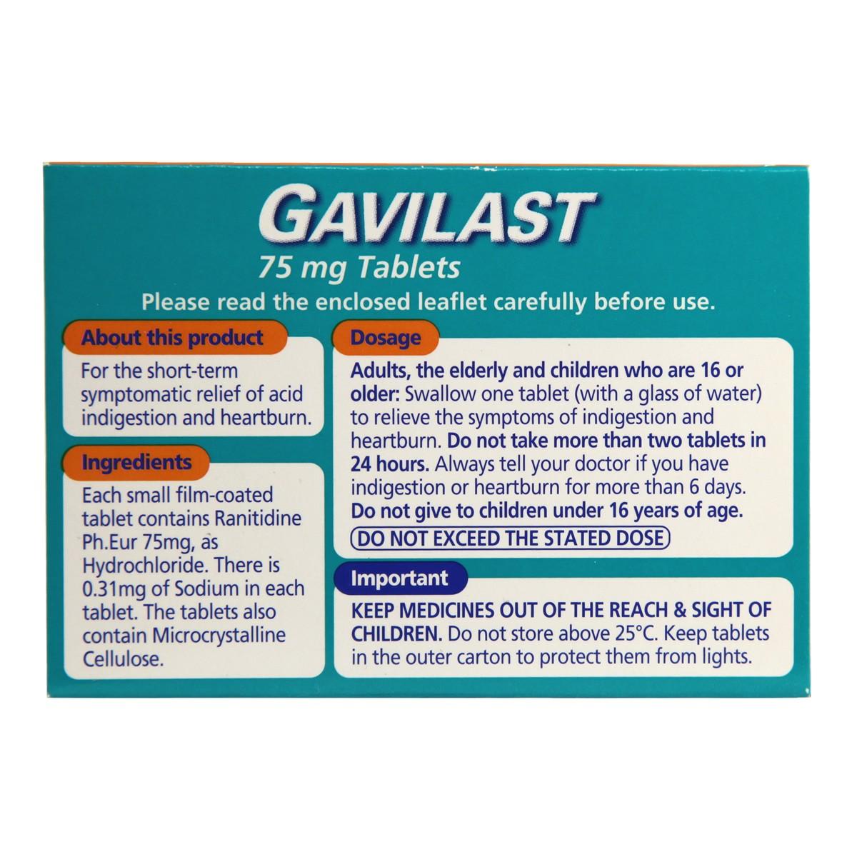 Gavilast Ranitidine 75mg
