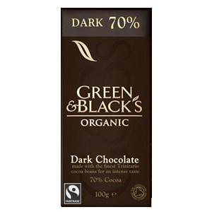Green & Black's Organic Dark Chocolate - 70% Cocoa