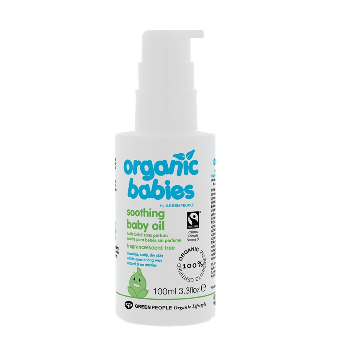 Green People Organic Babies Soothing Baby Oil Scent Free