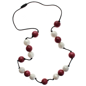 Gumigem Gumibeads Necklace - Cranberry