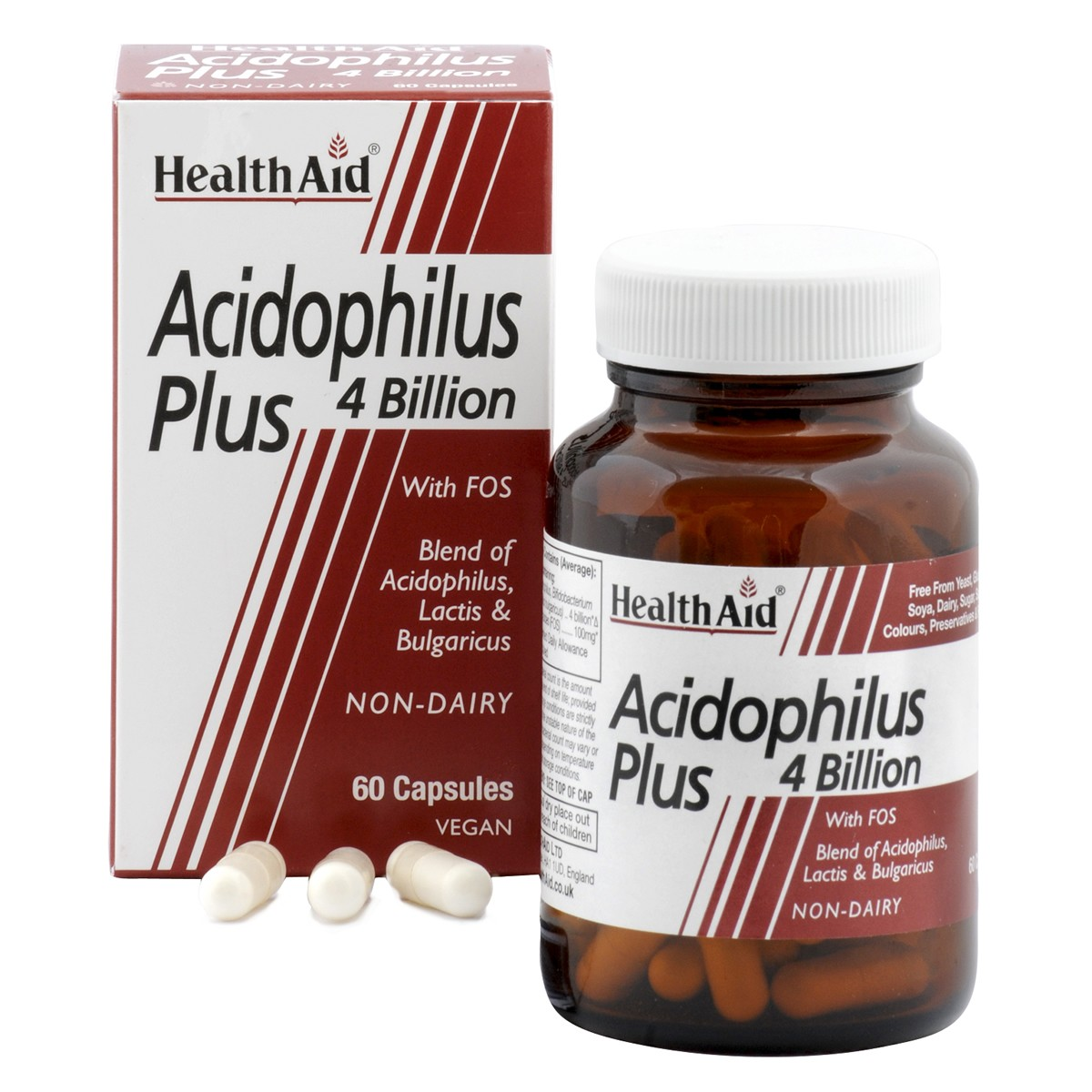 HealthAid Acidophilus Plus 4 Billion + FOS