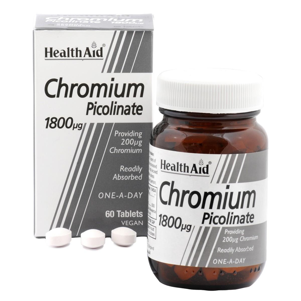 HealthAid Chromium Picolinate 200ug