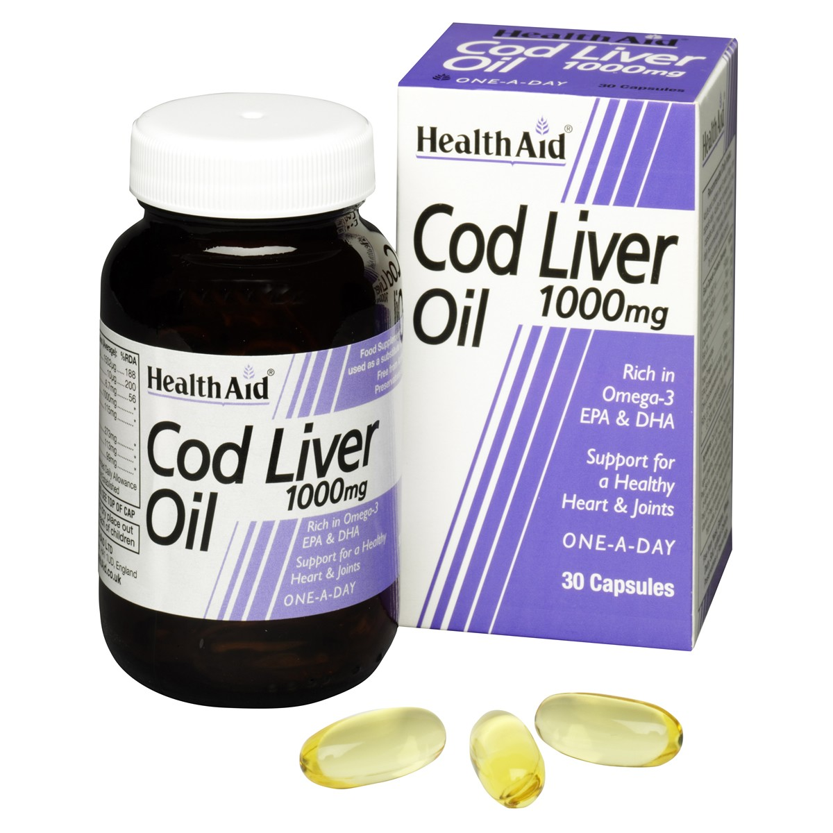 HealthAid Cod Liver Oil 1000mg Vegicaps