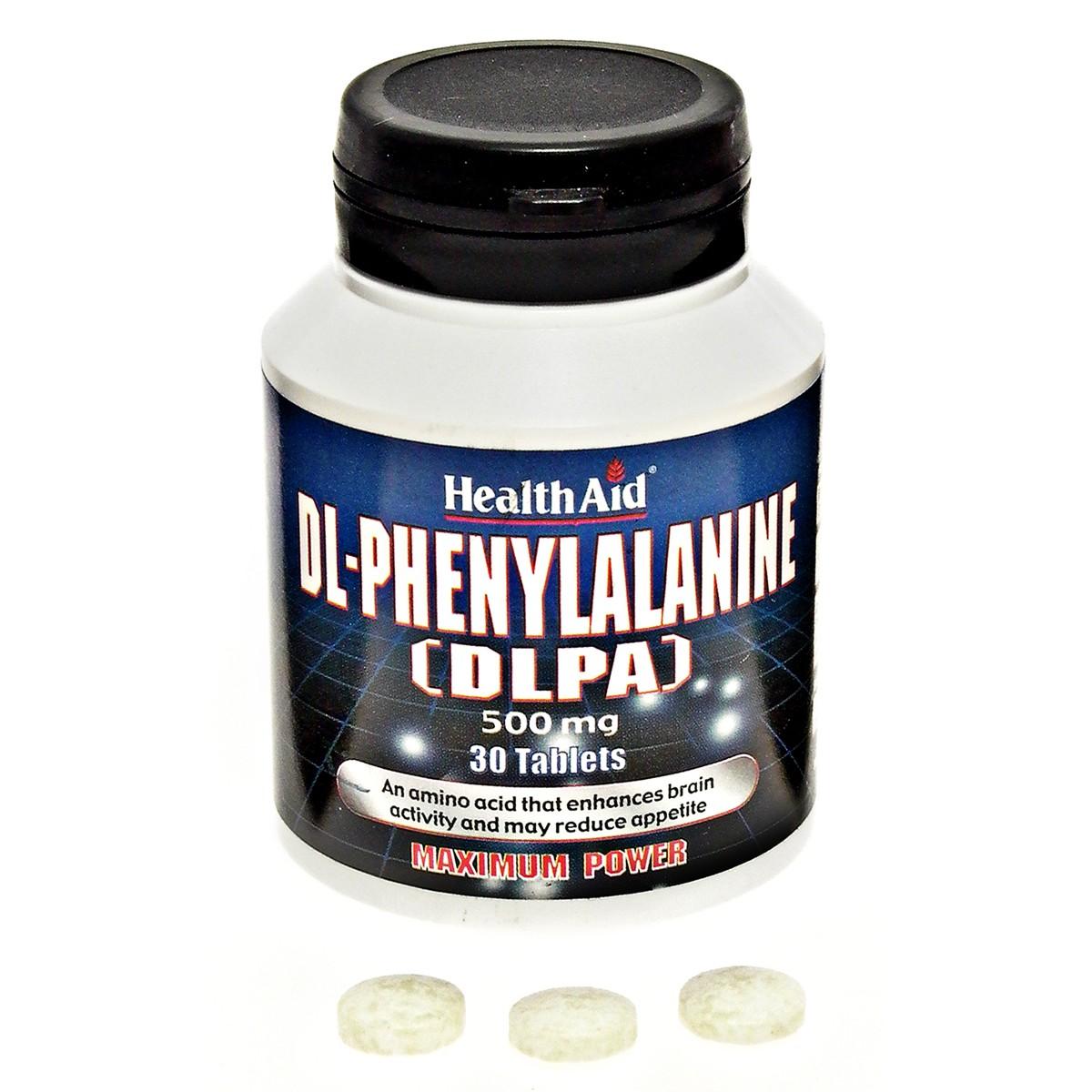 HealthAid DL-Phenylalanine (DLPA) 500mg