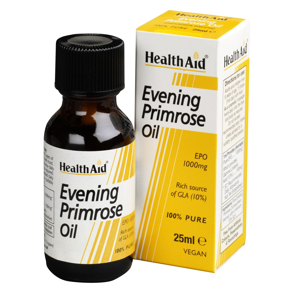 HealthAid Evening Primrose Oil - Pure EPO Oil (10% GLA) 25ml