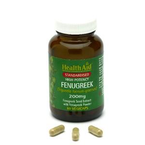 HealthAid Fenugreek 200mg - Standardised Capsules