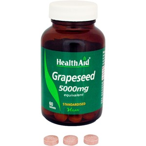 HealthAid Grapeseed Extract 5000mg - Standardised Tablets