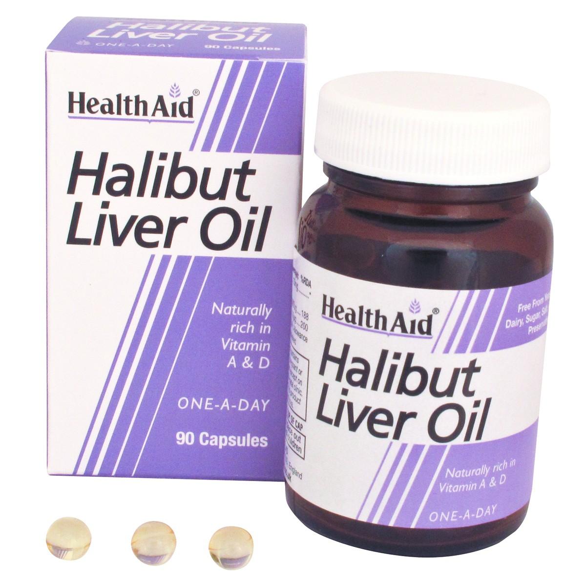 HealthAid Halibut Liver Oil Capsules