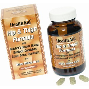HealthAid Hip & Thigh Formula (Butcher's Broom, Bucha, White Willow Bark Complex)