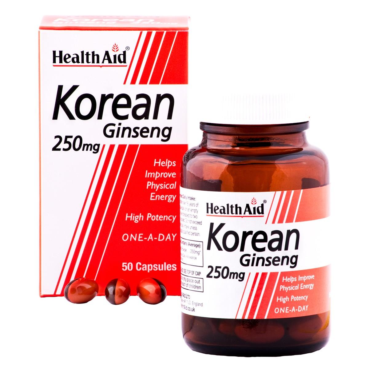 HealthAid Korean Ginseng 250mg