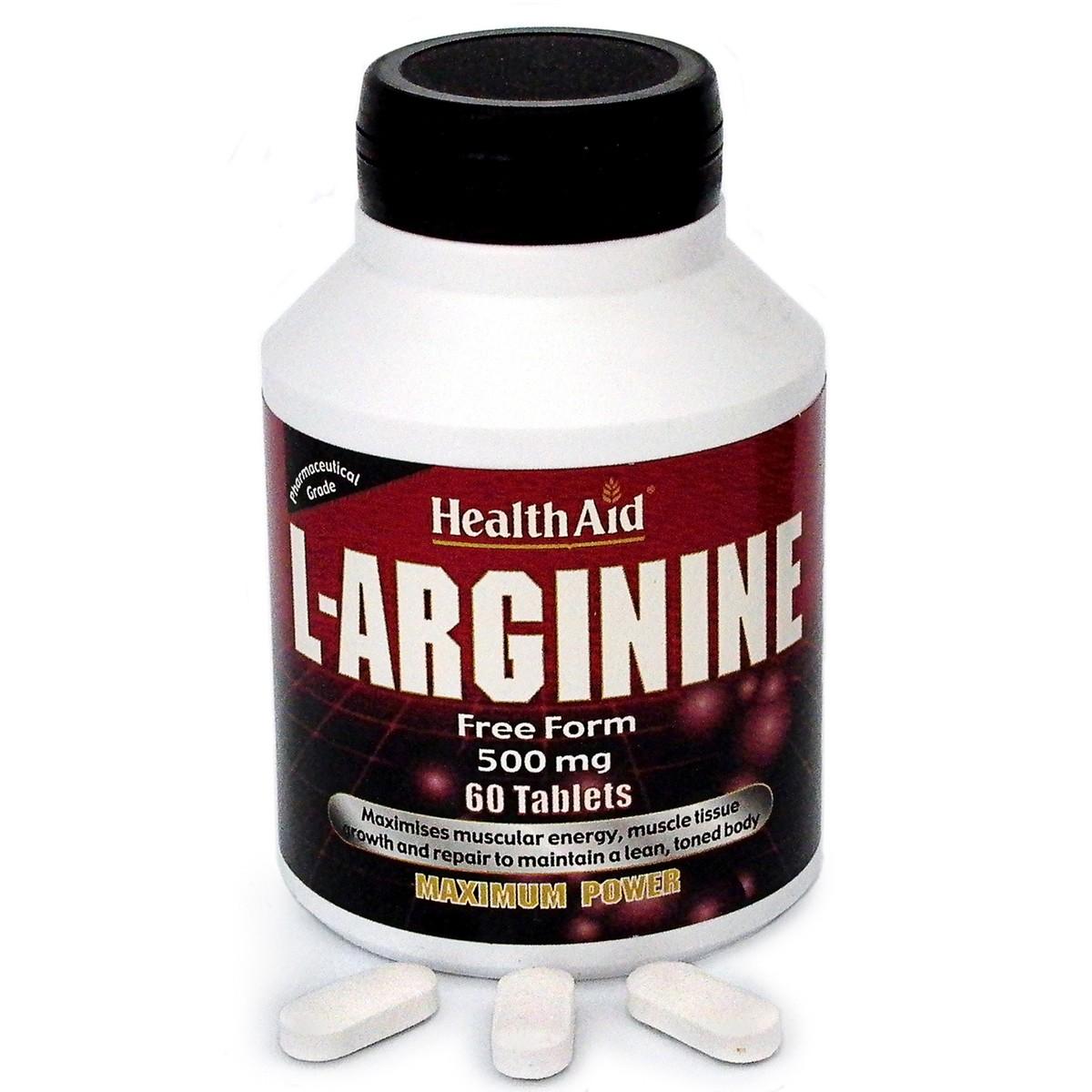 HealthAid L-Arginine 500mg Tablets