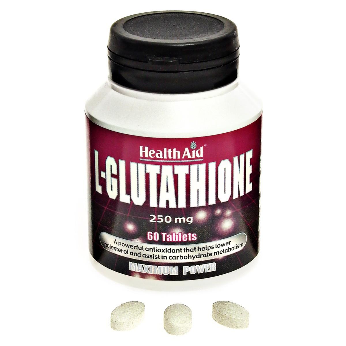 HealthAid L-Glutathione 250mg Tablets