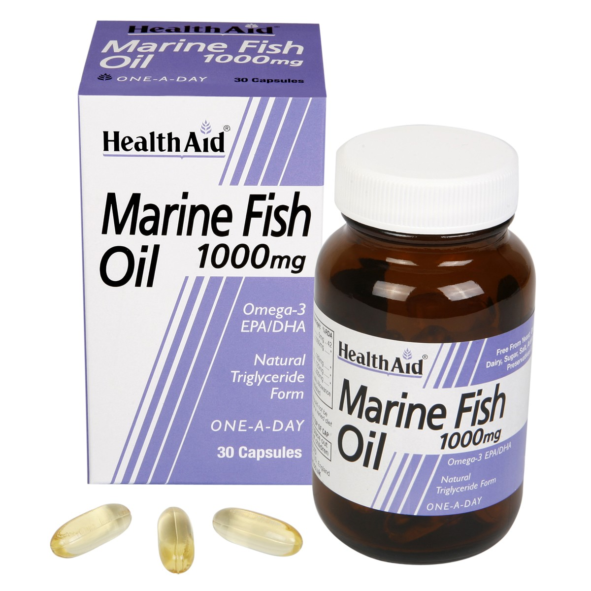 HealthAid Marine Fish Oil 1000mg Capsules