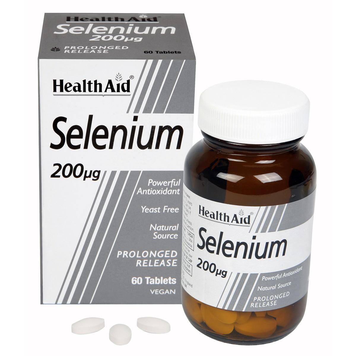 HealthAid Selenium 200ug - Prolonged Release