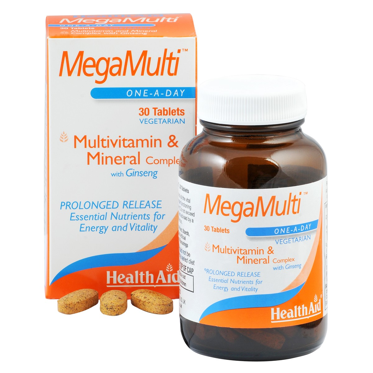 HealthAid Mega-Multi's (with Ginseng)