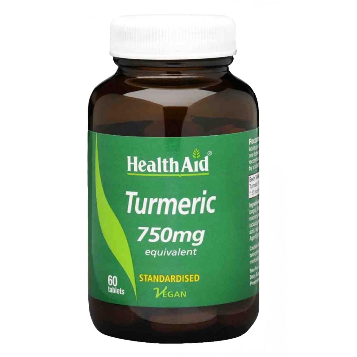 HealthAid Turmeric (Curcumin) 750mg Tablets