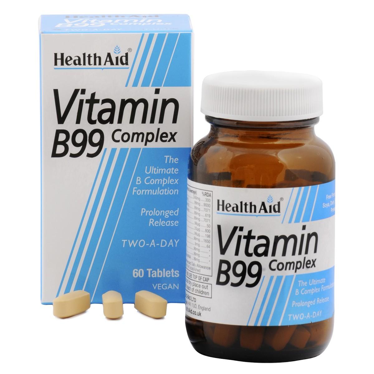 HealthAid Vitamin B99 Complex - Prolonged Release