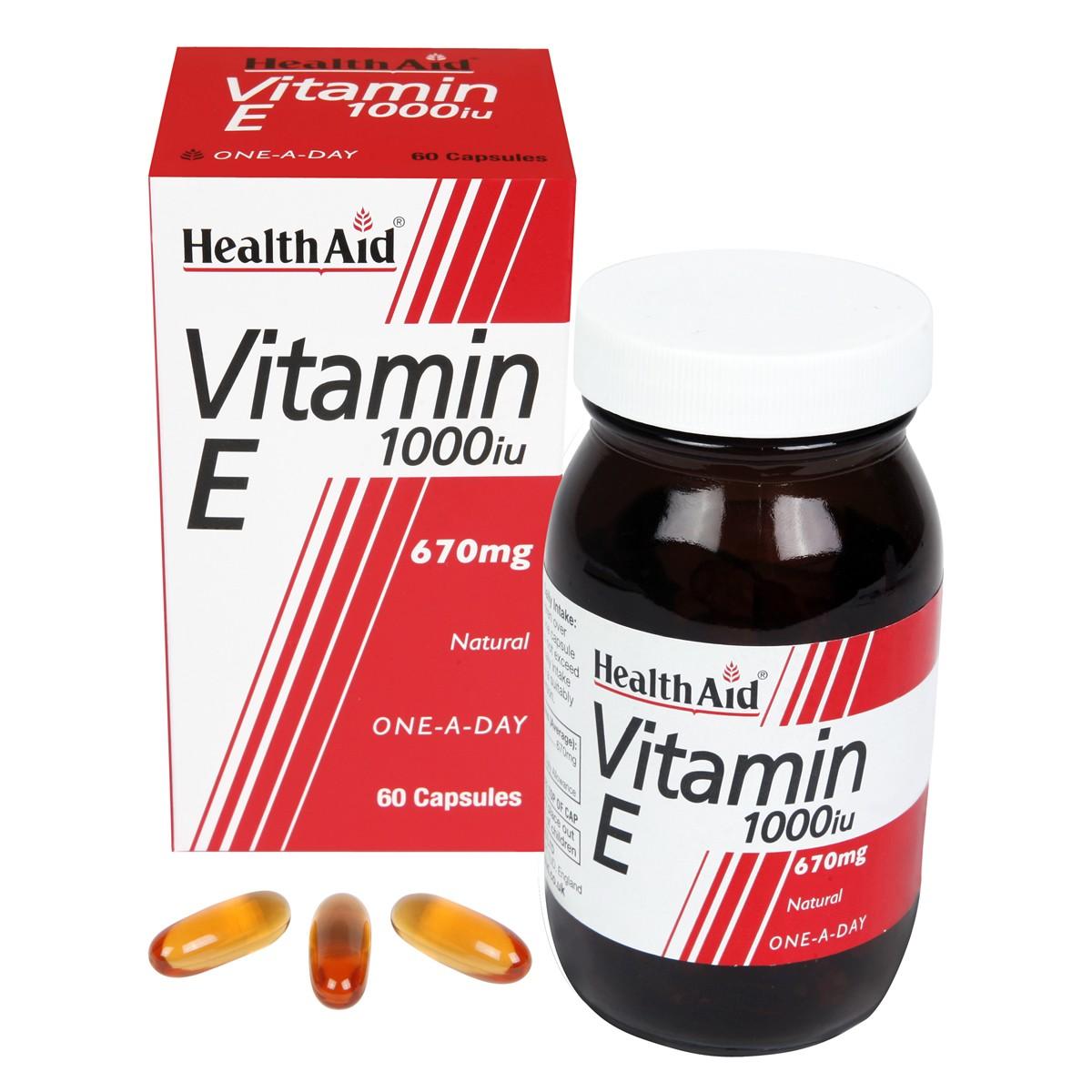 HealthAid Vitamin E 1000iu Natural Capsules