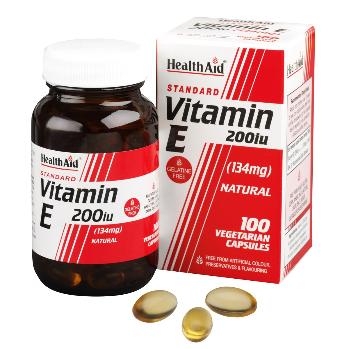 HealthAid Vitamin E 200iu Natural Vegicaps