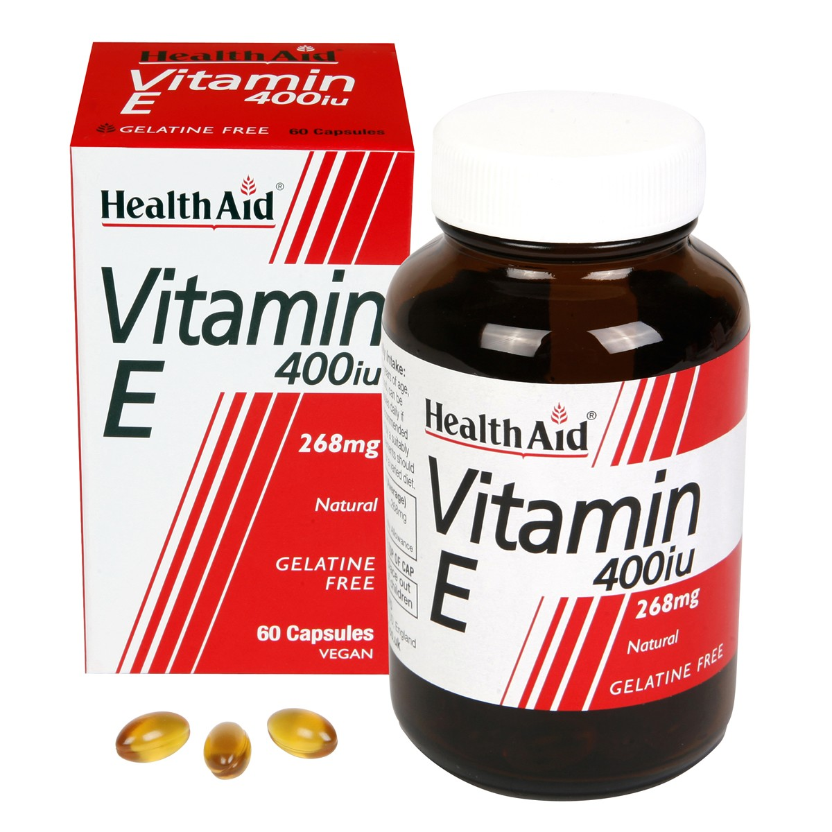 HealthAid Vitamin E 400iu Natural Vegicaps
