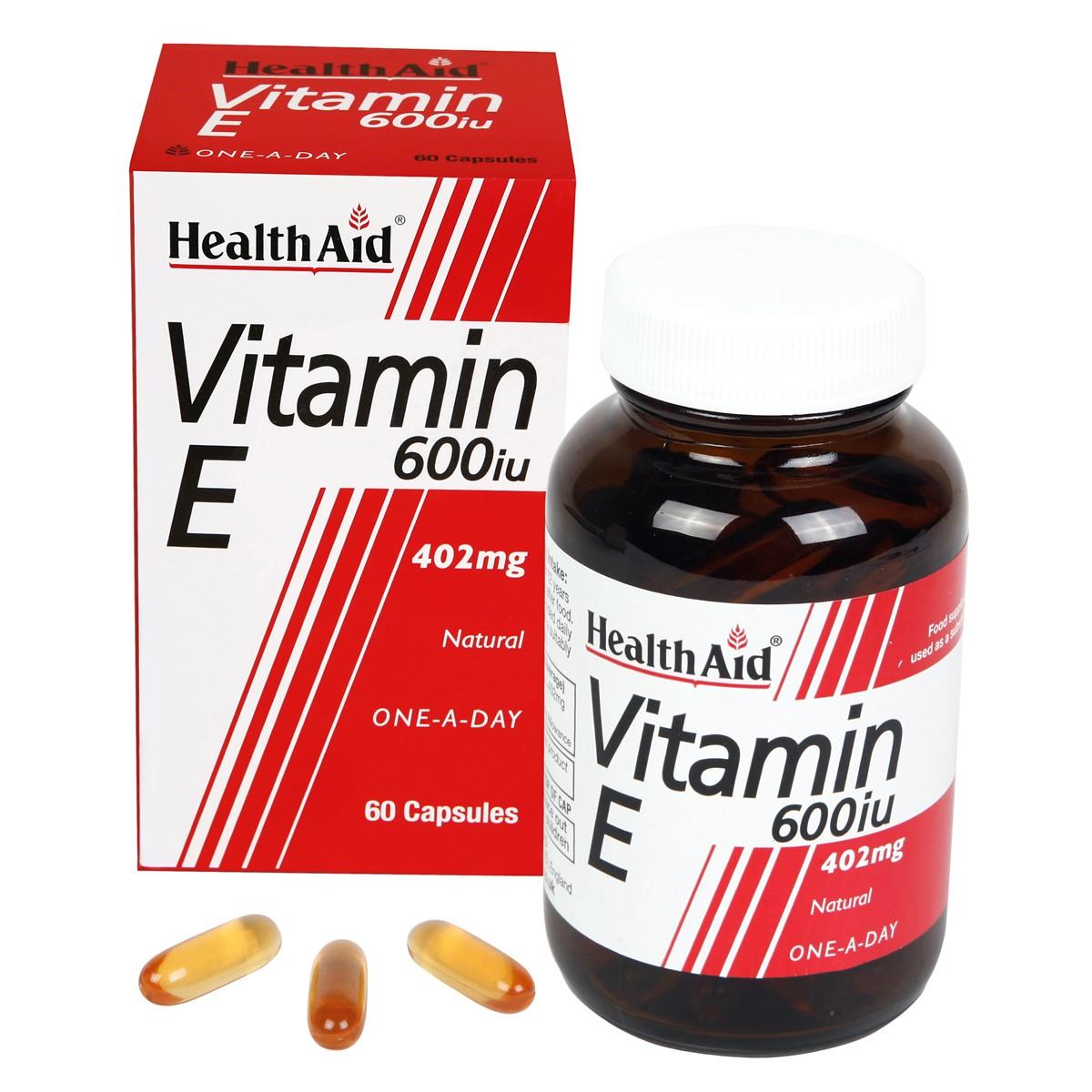 HealthAid Vitamin E 600iu Natural Capsules