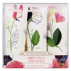 Heathcote & Ivory Sweet Pea & Honeysuckle Hand & Nail Cream Collection