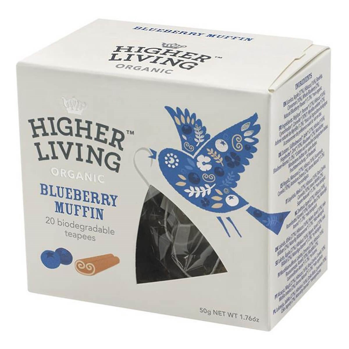 Higher Living Organic Blueberry Muffin Infusion Tea