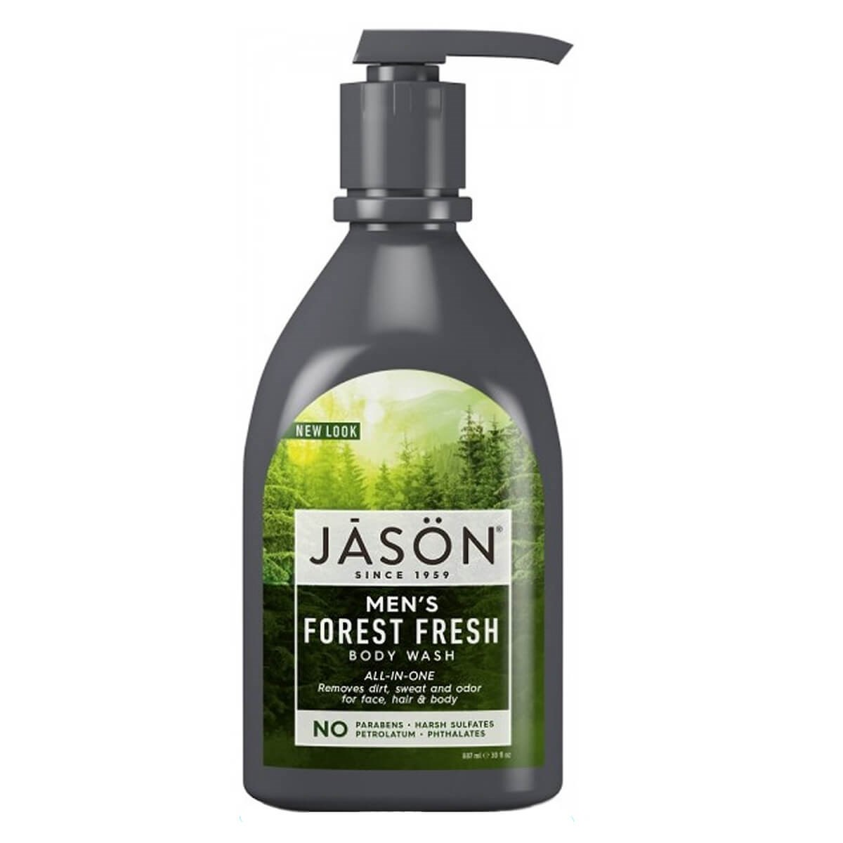 Jason ALL-IN-ONE Men's Body Wash Pump - Forest Fresh