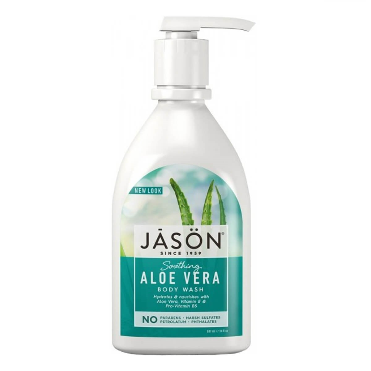 Jason Aloe Vera Satin Body Wash Pump - Soothing