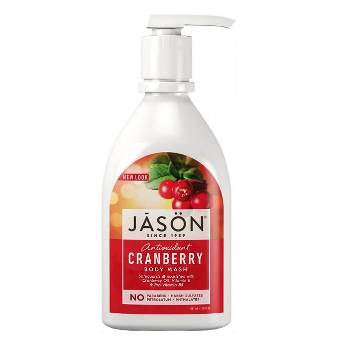 Jason Cranberry Satin Body Wash Pump - Anti-Oxidant